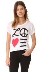 Chaser Love And Peace Tee White