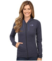The North Face Lite Weight Full Zip Hoodie Cosmic Blue Heather Coastal Fjord Blue Women's Sweatshirt
