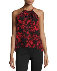 Parker Current Sleeveless Top Poinsettia Garland