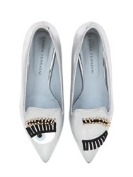 Chiara Ferragni 20Mm Flirting Eyes Faux Leather Loafers