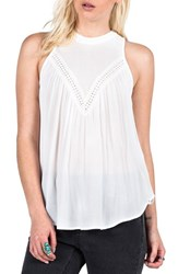 Women's Volcom 'Peaceazy' Crochet Trim Swing Tank