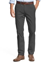 Tommy Hilfiger Men's Custom Fit Chino Pants Asphalt