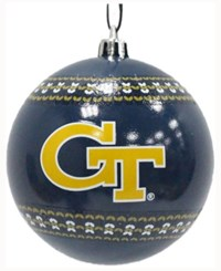 Memory Company Georgia Tech Yellow Jackets Ugly Sweater Ball Ornament Black
