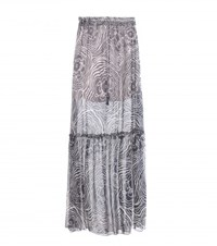 See By Chloe Silk Chiffon Maxi Skirt Blue