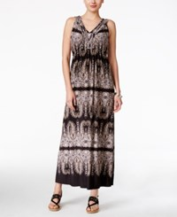 Styleandco. Style Co. Petite Printed V Neck Maxi Dress Only At Macy's Seahorse