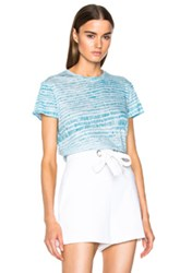 Proenza Schouler Printed Tissue Jersey Baggy Tee In Blue