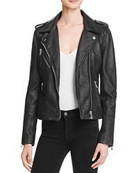 Doma Leather Moto Jacket Black