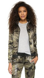 Solow Camo Printed Windbreaker Jacket