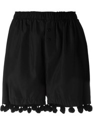 Christopher Shannon Elastic Waist Pompom Detail Shorts Black