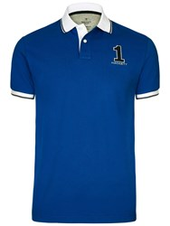 Hackett London Large Number New Classic Polo Shirt Cobalt