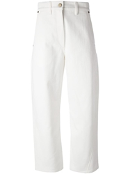 Lemaire Cropped Wide Leg Jeans
