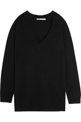 Alexander Wang T By Oversized Wool And Cashmere Blend Sweater Black