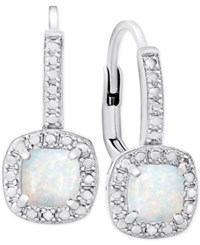 Victoria Townsend Opal 1 Ct. T.W. And Diamond Accent Drop Earrings In Sterling Silver
