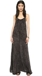 Blue Life Shirring Twist Strap Maxi Dress Soft Black Mineral