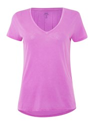 Polo Ralph Lauren Christie Plain V Neck T Shirt Purple