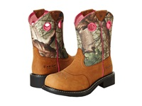 Ariat Fatbaby Cowgirl Steel Toe Toasted Auburn Camo Cowboy Boots Tan