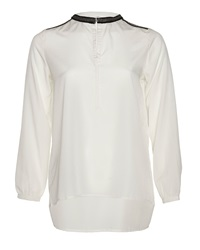 Aaiko Blouse With Chain Detailing White