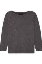 The Row Juliette Cashmere Sweater Dark Gray