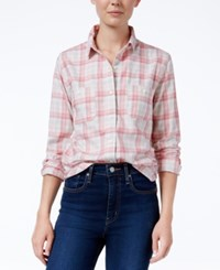 Levi's Plaid Workwear Boyfriend Shirt Pink