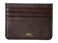 Obey Gentry Id Wallet Dark Burgundy Wallet Handbags Brown