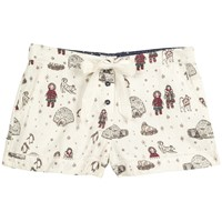 Fat Face Eskimo And Igloo Pyjama Shorts Ivory