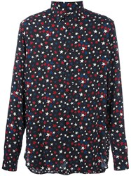 Saint Laurent Star Print Shirt Black