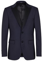 Tiger Of Sweden Nobel Wool Blend Tuxedo Jacket Blue