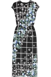 Mother Of Pearl Kara Printed Silk Jersey Midi Dress Black