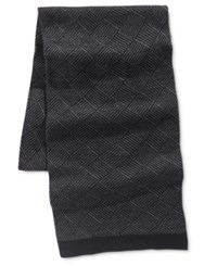 Ryan Seacrest Distinction Men's Diamond Knit Scarf Only At Macy's Charcoal Grey
