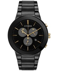 Citizen Men's Chronograph Axiom Black Ion Plated Stainless Steel Bracelet Watch 43Mm At2248 59E A Macy's Exclusive