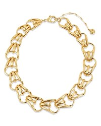 Charm And Chain Collar Necklace 16 Gold