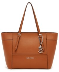 Guess Delaney Small Classic Tote Cognac