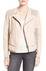 Trouve Women's Perforated Faux Suede Jacket