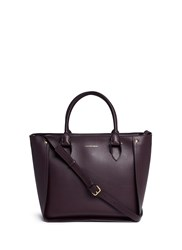 Alexander Mcqueen 'Inside Out' Top Zip Leather Shopper Tote Purple