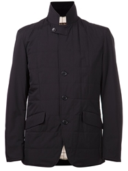 Loro Piana High Collar Jacket Blue