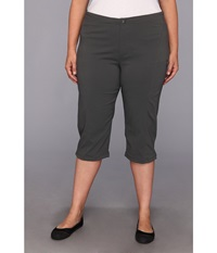 Columbia Plus Size Just Right Ii Capri Grill Women's Capri Gray
