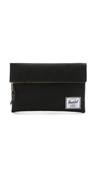Herschel Carter Large Fold Over Pouch Black