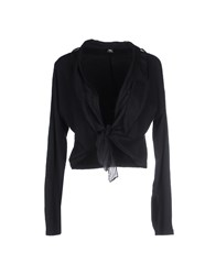 European Culture Knitwear Wrap Cardigans Women Black
