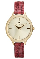 Tom Tailor Watch Goldfarben Bordeaux