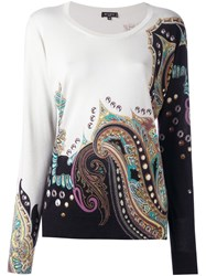 Etro Abstract Print Pullover White