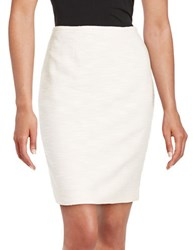 Calvin Klein Petite Textured Pencil Skirt Petal White