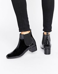 Monki Patent Chelsea Ankle Boot Black