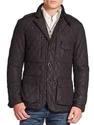 Ralph Lauren Black Label Quilted Sport Jacket Polo Black