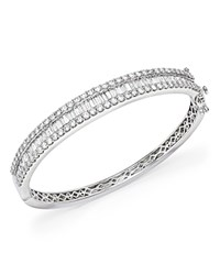 Bloomingdale's Diamond Round And Baguette Bangle In 14K White Gold 5.0 Ct. T.W.