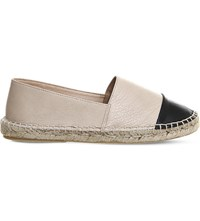 Office Lucky Leather Espadrilles Nude Leather Black