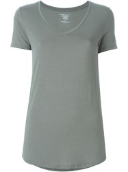 Majestic Filatures Superwashed V Neck T Shirt Green