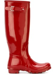 Hunter Original Tall Gloss Boots Red