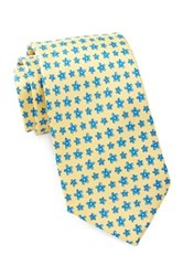 Tailorbyrd Silk Flowers Tie Yellow