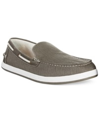Tommy Hilfiger Irving Canvas Slip Ons Men's Shoes Grey