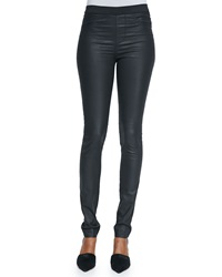 Zadig And Voltaire Stretch Waist Coated Leggings 36 2
